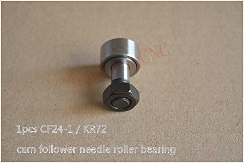 Zamtac KR72 KRV72 CF24-1 M24x1.5mm cam Follower Needle Bearing Wheel and pin Bearing 1pcs ()