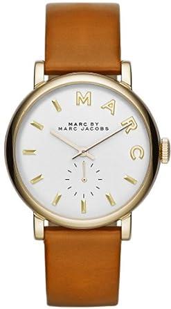 Marc Jacobs Damen-Armbanduhr Analog Quarz Leder MBM1316