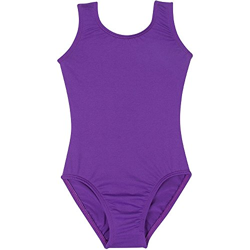 Infant Baby Girl Tank Leotard for Dance, Gymnastics, and Ballet Sleeveless Purple T (12-24M)