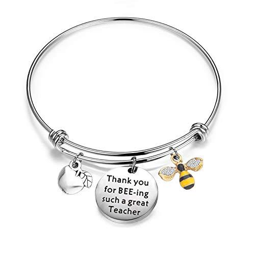 Gzrlyf Teacher Bracelet Thank You Beeing Such A Great Teacher Bee Jewelry Teacher Appreciation Gifts
