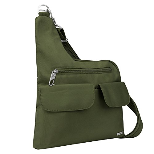 (Travelon Luggage Anti-Theft Cross-Body Bag, Olive)