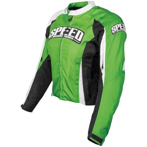 Speed and Strength Top Dead Center Women's Textile On Road Motorcycle Jacket - Green / Large