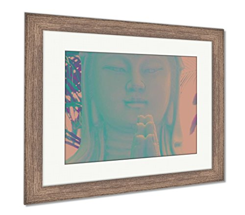 Ashley Framed Prints The Chinese Goddess of Compassion, Wall Art Home Decoration, Color, 34x40 (Frame Size), Rustic Barn Wood Frame, AG5265130 ()