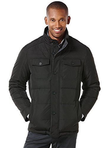 UPC 700770127906, Perry Ellis Men's Tall Long Microfiber Coat with Detachable Hood, Black, 3X/Tall