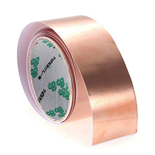 Pink Lizard Copper Foil Tape EMI Shielding for Fender Guitars 6 ft X 2 (Foil Red Guitar)
