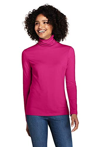 Lands' End Women's Petite Lightweight Fitted Turtleneck Layering (Turtleneck Petite Cotton)