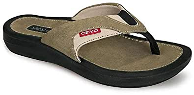 Ceyo Black Flat Sandal For Men