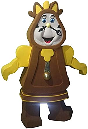 Amazon Com Cogsworth Clock From Beauty And The Beast Mascot Costume Adult Party Character Brown Clothing