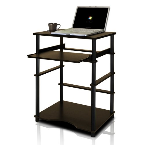 Furinno 10016EX/BK Home Laptop Notebook Computer Desk, Espresso/Black by Furinno