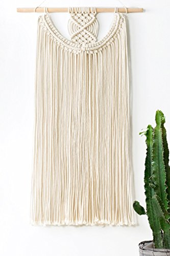 Mkono Macrame Wall Hanging Fringe Woven Wall Decor Bohemian Home Decorations for Apartment Bedroom Living Room (Woven Wall Fashion)