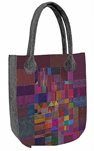 Filztasche Shopper Damentasche Handtasche Schultertasche CITY Mosaic