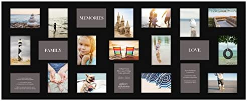 """NEW Large Collage Photo Frame Holds 4/"""" x 6/"""" Pictures 40.5/'/' X 17 /'/' WHITE 18"""