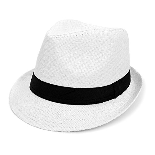 Men & Women Summer Short Brim Fedora Hat