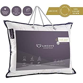 Amazon Com Lincove 100 Goose Down Luxury Sleeping Pillow