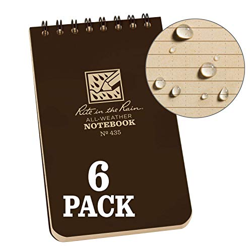 Spiral Recycle Notebooks - Rite In The Rain 435L6 Weatherproof Top Spiral Notebook, 3