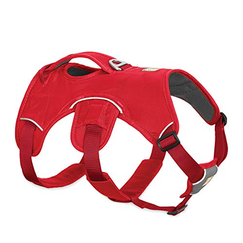 RUFFWEAR - Web Master, Multi-Use Support Dog Harness, Hiking and Trail Running, Service and Working, Everyday Wear, Red Currant, X-Small