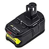 P108 4.0Ah High Capacity Replacement for Ryobi 18V Battery Lithium ONE+ PLUS P100 P102 P103 P104 P105 P107 Cordless Power Tools