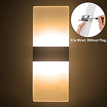 Topmo Modern Acrylic 12w LED Wall Sconces Aluminum Lights ...