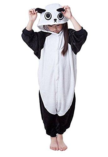 (Eamaott Flannel Children Panda Cosplay Costume Christmas Onesie Pajamas Great Gift For Kids)
