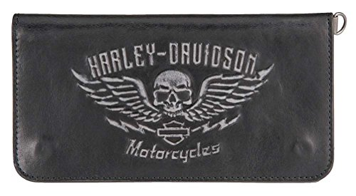Leather Men's Genuine HDMWA11238 Wallet BLK Harley Guardian Trucker Davidson XqHwHa