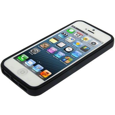 P iPhone de 5boîtiers pour noir noir iPhone SE / 5 / 5S Hülle