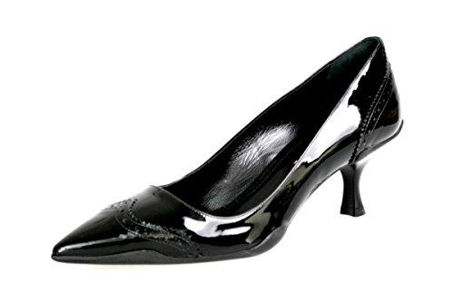 Prada Women's 1I962F 069 F0002 Black Full Brogue Leather Pumps/Heels EU 37/US (Prada Black Pumps)