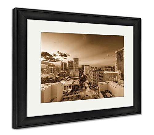 (Ashley Framed Prints Birmingham, Alabama, USA, Wall Art Home Decoration, Sepia, 26x30 (Frame Size), Black Frame, AG32675213)