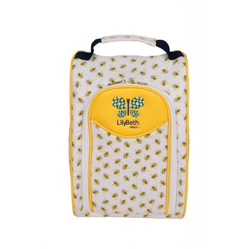 LilyBeth Golf Shoe Bag, Yellow Bumble Bee -