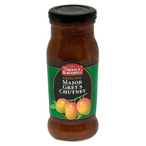 Crosse & Blackwell Genuine Major Grey's Chutney, 9-Ounce Bottles (Pack of 6) (Major Grey Chutney)