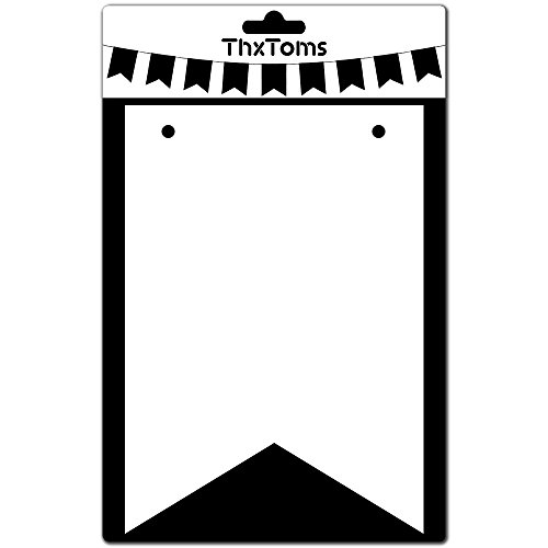 ThxToms DIY Cardboard Banner, Decorate for Baby Shower and Party, 6.5 x 4.5 Inches, 15Pcs