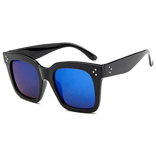 Sinkfish SG80013 Sunglasses for Women,Personality Oval - UV400/Black Frames/Blue - Repair Sunglasses Hut Sunglass Does