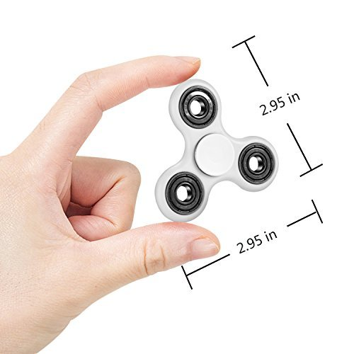 Fidget hand spinner toy Premium Bearing High Speed Perfect For ADD, ADHD, Anxiety, and Autism Adult Children(White)