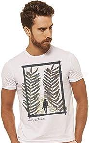 Joss Camiseta Básica Estampada Masculino, Extra Grande, Branco
