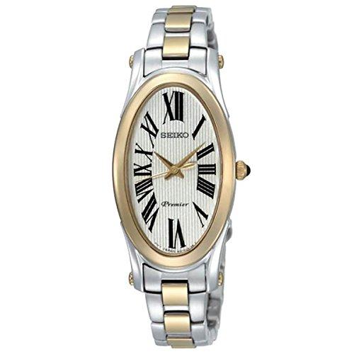 Seiko Two-Tone Bracelet Champagne Dial Women's Watch #SXGN64