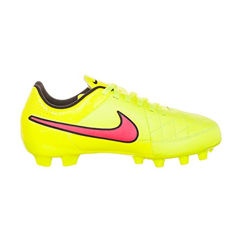 CN NIKE HYPR Football Boot Leather Genio VLT MTLC BLCK FG GLD PNCH Tiempo Junior gFcFWvH