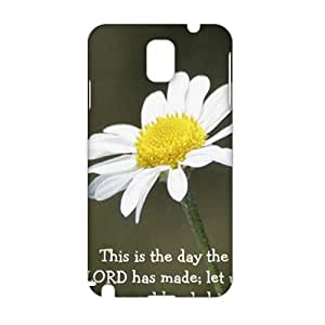 Angl 3D Case Cover White Pure Daisy Phone Case for Samsung Galaxy Note3