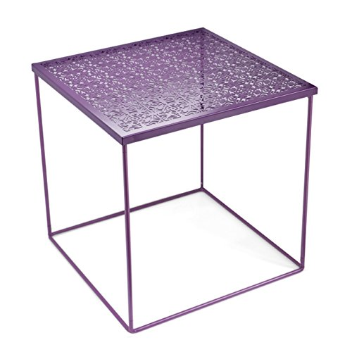 Urban Shop Die Cut Metal Side Table, Purple