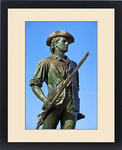 Framed Print of Minuteman statue at Old North Bridge, Concord Massachusetts, USA by Fine Art Storehouse