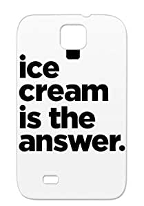 Icecream Miscellaneous Baby Family Desert Dessert Sugar Ice Cream Answer Love Sweets Food For Sumsang Galaxy S4 Black Anti-shock Cover Case