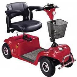 Power Scooter Daytona Standard 4 Wheel Electric Scooter, Red
