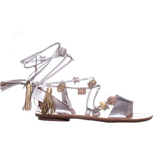 Sandal Silver Loeffler Women's Suze Randall Flat SwcA4Rq