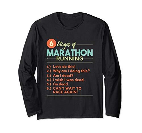(Funny Running Marathon Runner Long Sleeve T-Shirt)