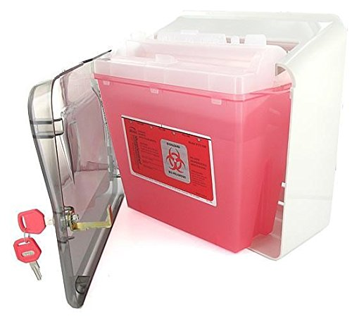 Bemis Sharps Wall Cabinet Only - Use with 5 Quart Sharps Medical Waste Disposal Container & Glove Box Holder by Bemis