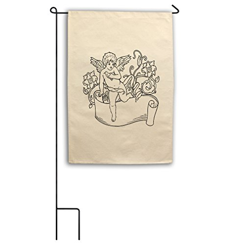 Style in Print Color-In Angel Flowers Long Paper Canvas Yard