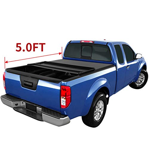 oEdRo Tri-Fold Truck Bed Tonneau Cover Compatible with 2005-2019 Nissan Frontier 5 Feet Bed, Fleetside (for Models w/or w/o Utili-Track System) in USA