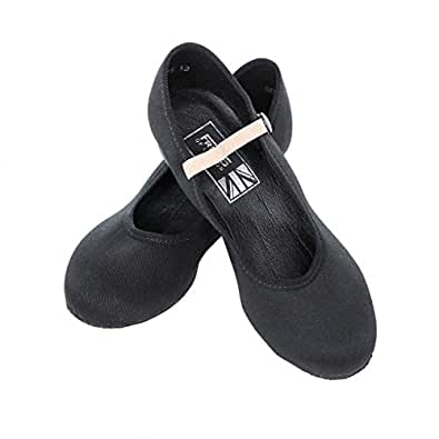 Women's Low Heel Character Dance Shoes, Black, UK 4