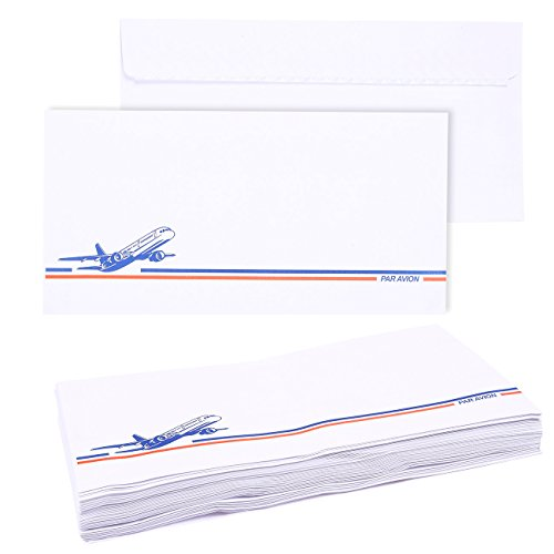 50 Pack DL Envelopes - Self Seal Airmail Envelopes, 4.33 × 8.66 Inches, Perfect for Tri-Folded A4 Paper Brochures, Leaflets, Menus, White