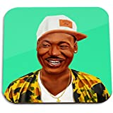 Martin Luther King wooden coaster - Pop art Modern Contemporary Decorative Art coaster, Hipstory Project by Amit Shimoni Illustration