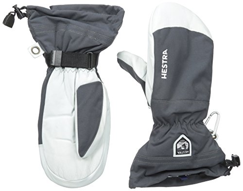 Hestra Army Leather Heli Ski and Cold Weather Mitten,Grey,10 by Hestra