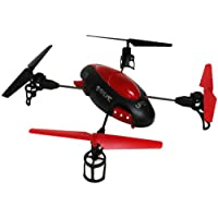Skybotz 4 Channel 2.4G RC Quadcopter, 12 X 12- 6 Axis Red